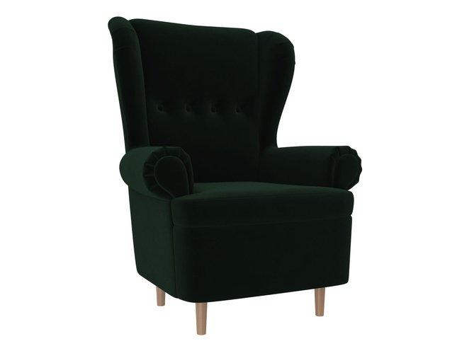 Кресло Торин, зеленое/велюр фото