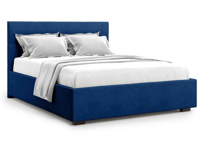 Кровать 1800 Garda без подъемного механизма, синий велюр velutto 26 фото
