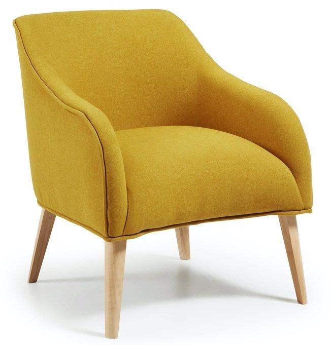 Кресло Lobby, желтое фото