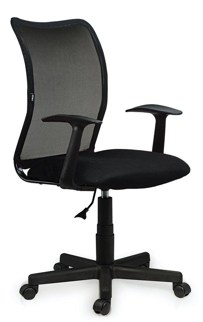 Кресло Brabix Spring MG-307 с подлокотниками, черное фото
