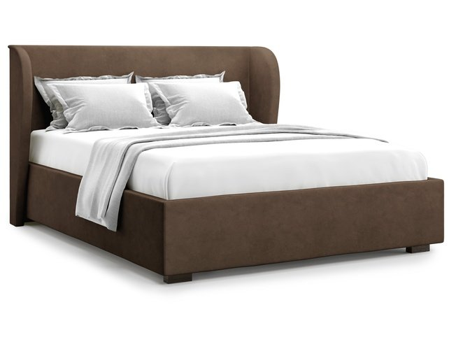 Кровать 1400 Tenno с подъемным механизмом, шоколадный велюр velutto 23 фото