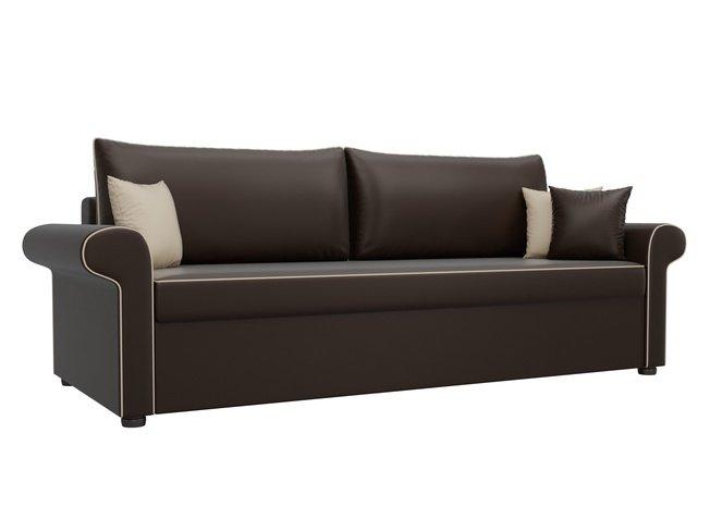 Диван-кровать Милфорд, коричневый/экокожа фото