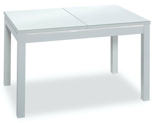 Стол обеденный раздвижной TEMPO 136, белый/стекло экстра белое фото