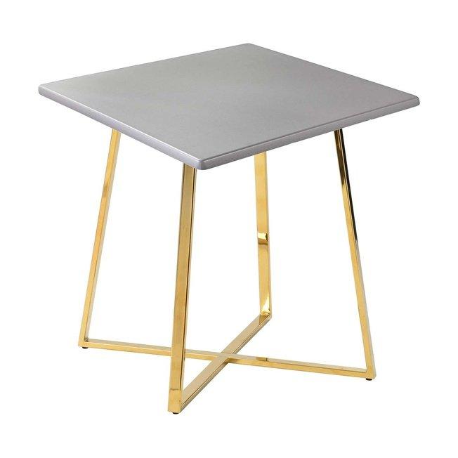 Стол обеденный Haku Gold 80x80, серебро фото