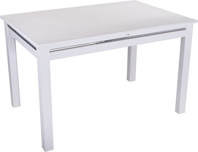 Стол обеденный раздвижной Самба, белый/белый камень фото