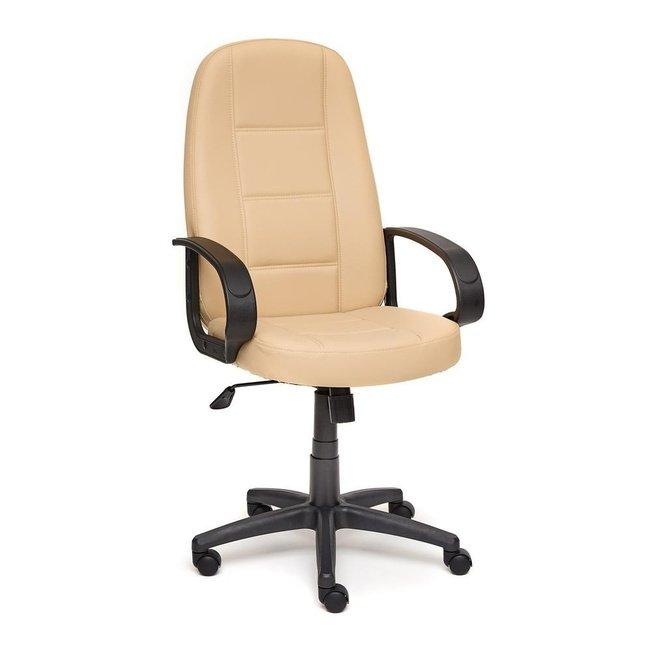 Кресло офисное CH747, бежевая экокожа фото