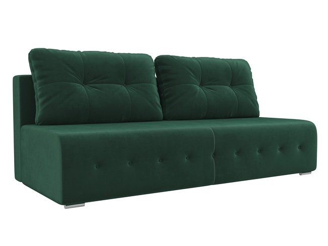 Диван-кровать Лондон, зеленый/велюр фото