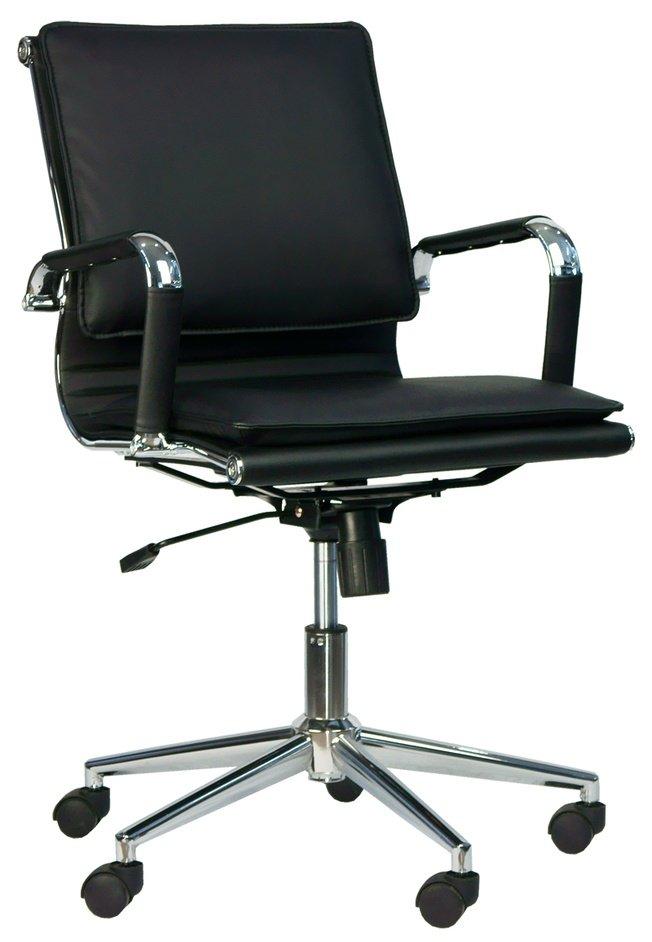 Кресло офисное Nerey LB T, экокожа черная фото