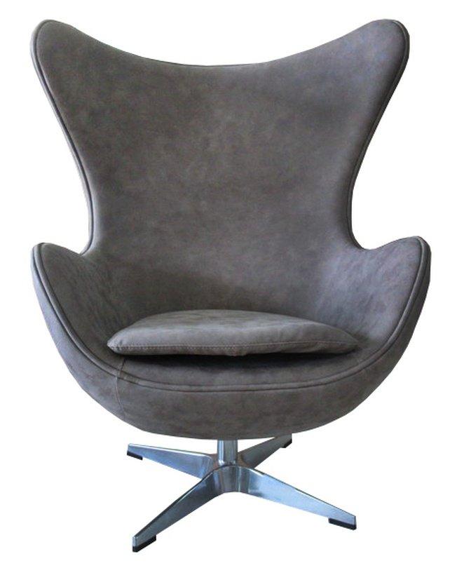 Кресло EGG CHAIR, бледно-коричневый матовый с эффектом состаренная кожа фото