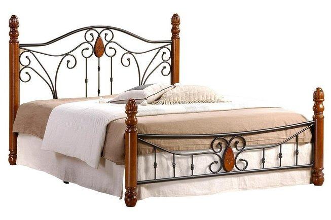 Кровать металлическая AT-9003 160x200см фото