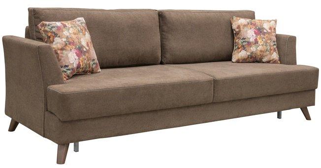 Диван-кровать Дамаск, коричневый ТД 213 фото
