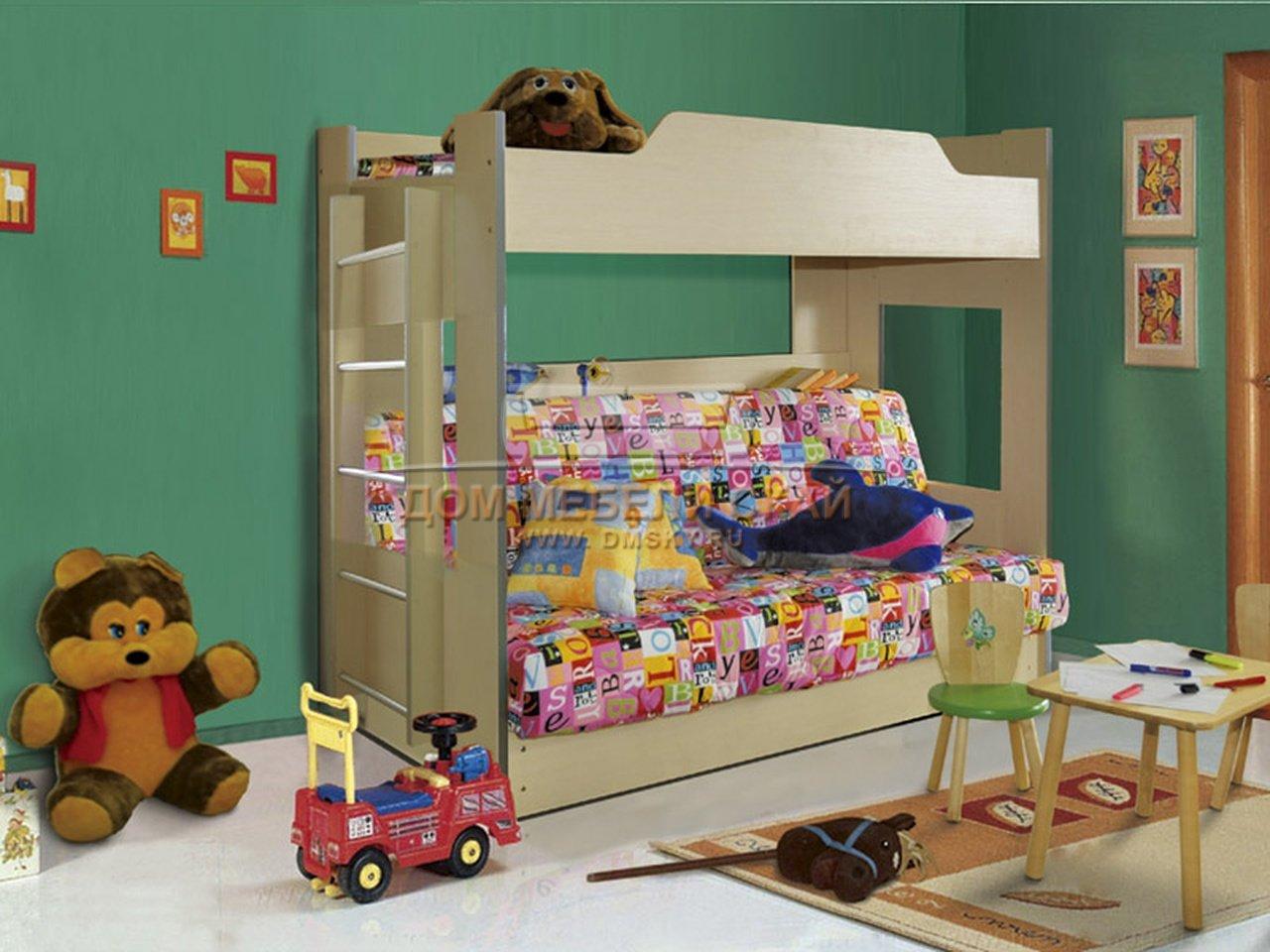 Двухъярусная кровать с диваном боровичи с доставкой