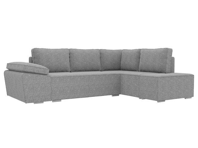 Угловой диван-кровать правый Хавьер, серый/рогожка фото