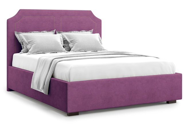 Кровать 1600 Lago с подъемным механизмом, фиолетовый велюр velutto 15 фото