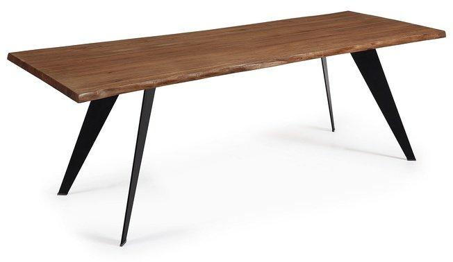 Стол обеденный Nack 220x100, черный каркас/античный дуб C799M90 фото