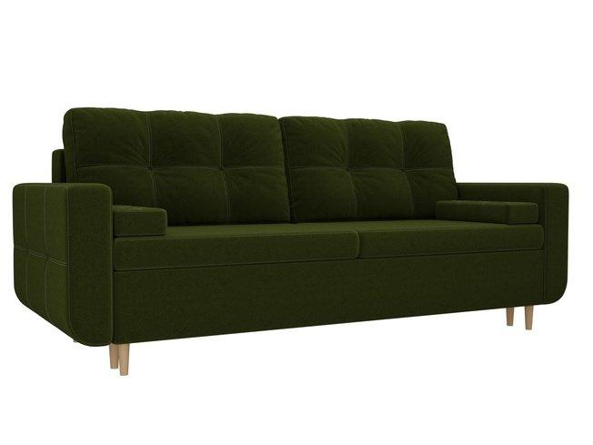Диван-кровать Кэдмон, зеленый/микровельвет фото