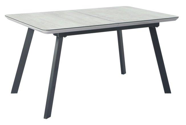 Стол обеденный раскладной DAKAR 140, серый сатин/крем фото