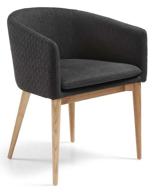 Стул-кресло Harmon, стеганое/темно-серое CC0078JQ15 фото