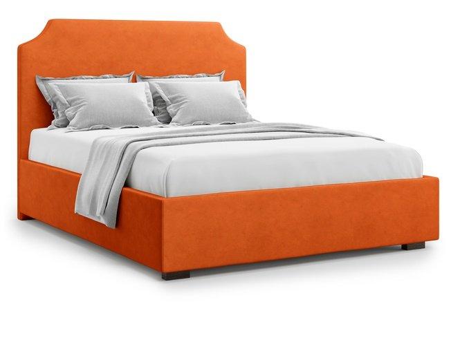 Кровать 1600 Izeo с подъемным механизмом, оранжевый велюр velutto 27 фото
