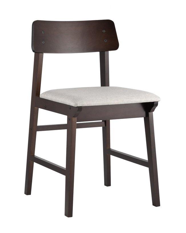 Стул ODEN, wood new/мягкое сидение светло-серый фото
