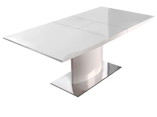 Стол обеденный раздвижной DT-01 160(200), белый фото