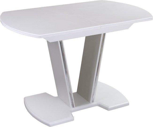 Стол обеденный раздвижной Румба ПО-3, белый/белый камень фото