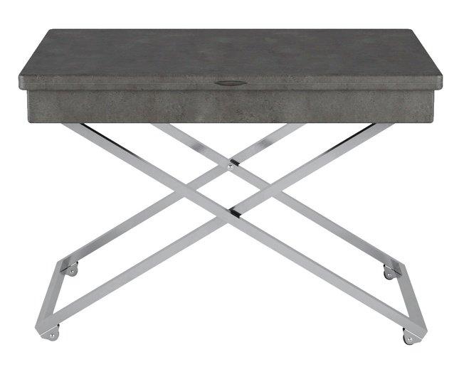 Стол универсальный трансформируемый АНДРЭ Менсола, серый бетон фото