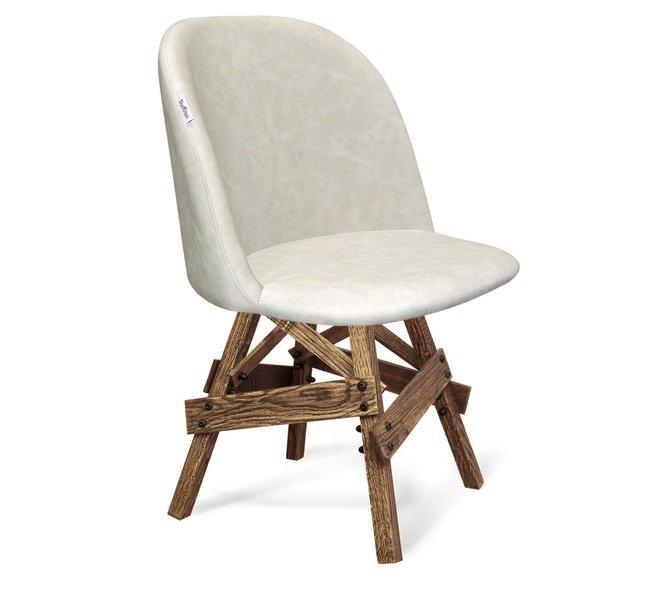 Стул-кресло SHT-ST22/S71, ванильный лед/дуб брашированный фото