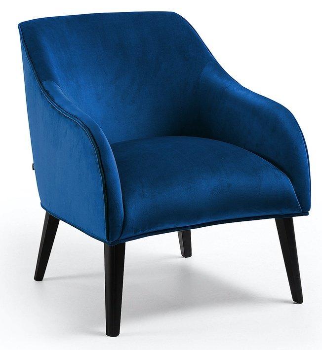 Кресло Lobby, темно-синий бархат фото
