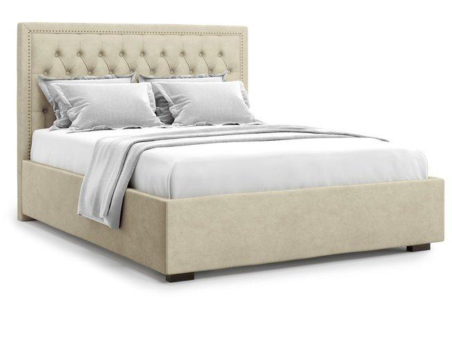 Кровать 1400 Orto с подъемным механизмом, бежевый велюр velutto 17 фото