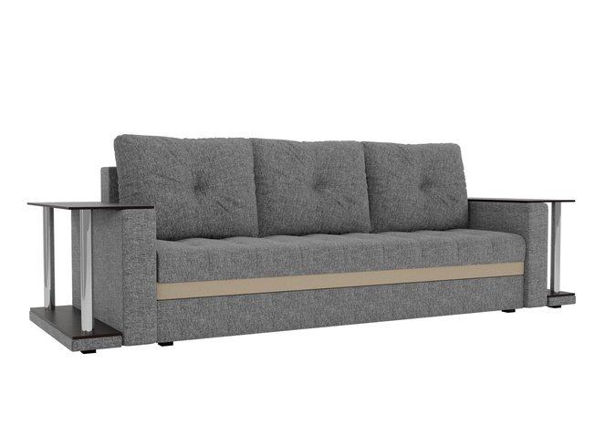 Диван-кровать Атланта М 2 стола, серый/рогожка фото