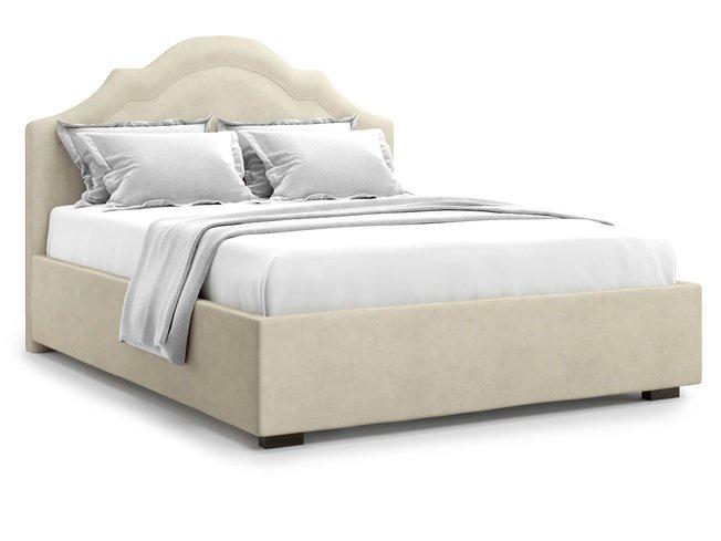Кровать 1400 Madzore без подъемного механизма, бежевый велюр velutto 17 фото