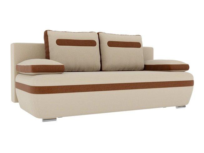 Диван-кровать Каир, бежевый/коричневый/рогожка фото