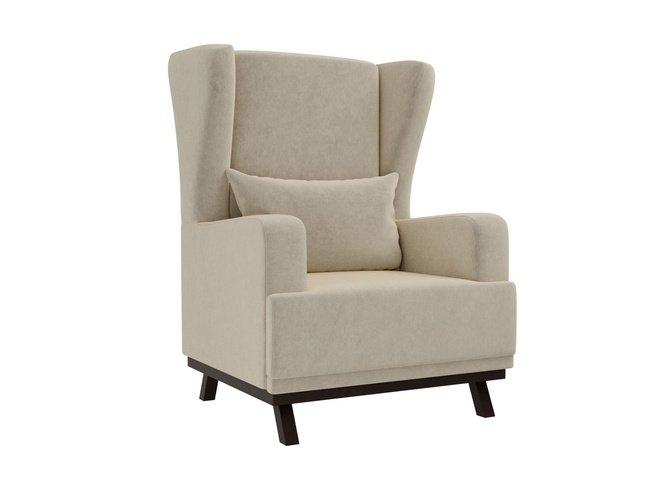 Кресло Джон, бежевое/микровельвет фото