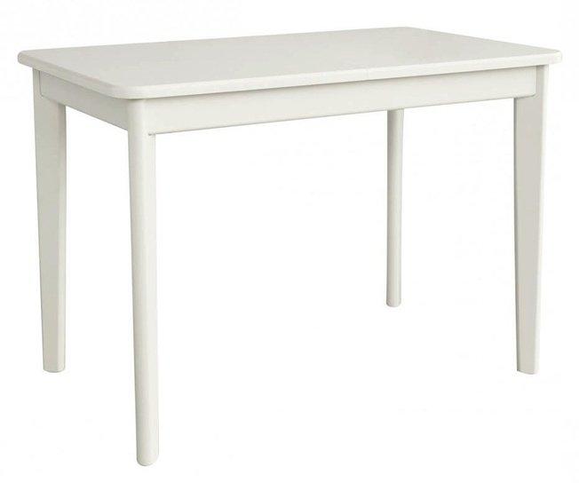 Стол обеденный Блюз 3 с прямой ножкой, белый фото