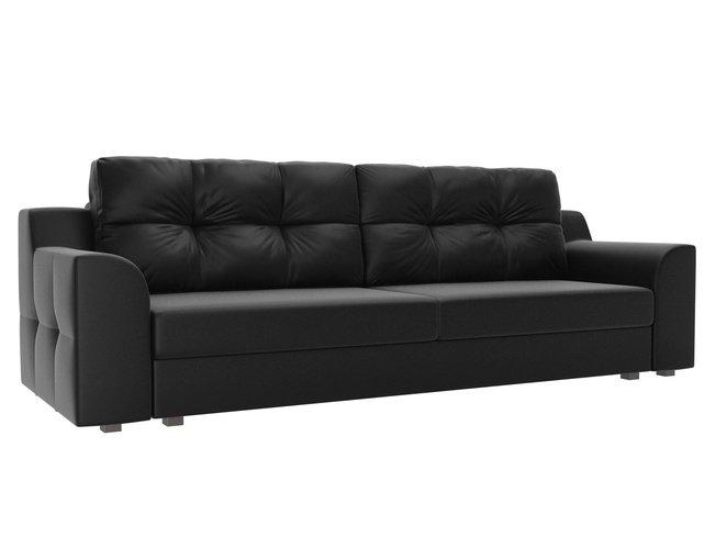 Диван-кровать Сансара, черный/экокожа фото