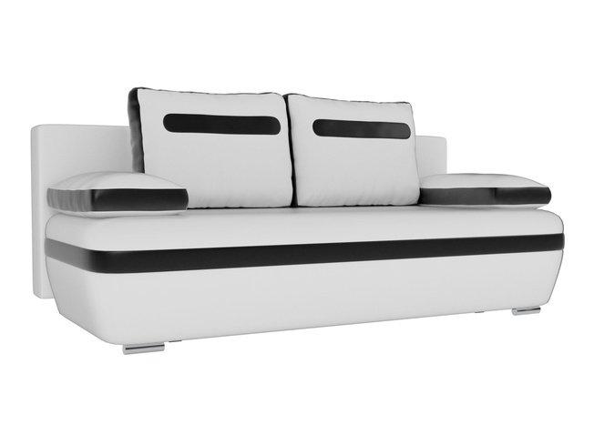 Диван-кровать Каир, белый/черный/экокожа фото