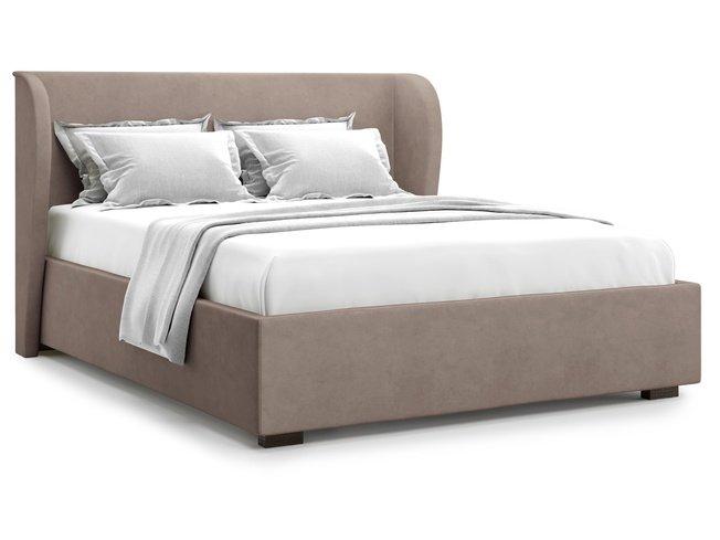 Кровать 1800 Tenno с подъемным механизмом, коричневый велюр velutto 22 фото