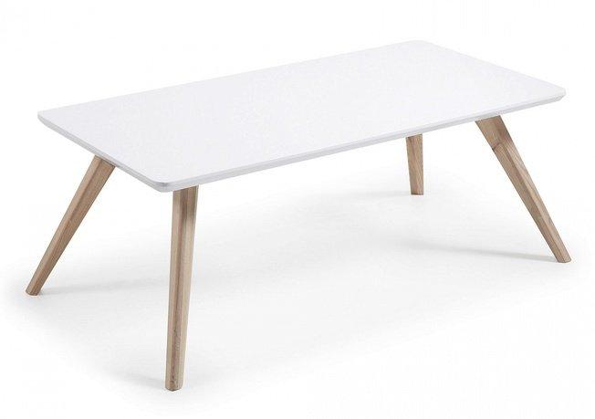 Журнальный столик Quare, белый фото