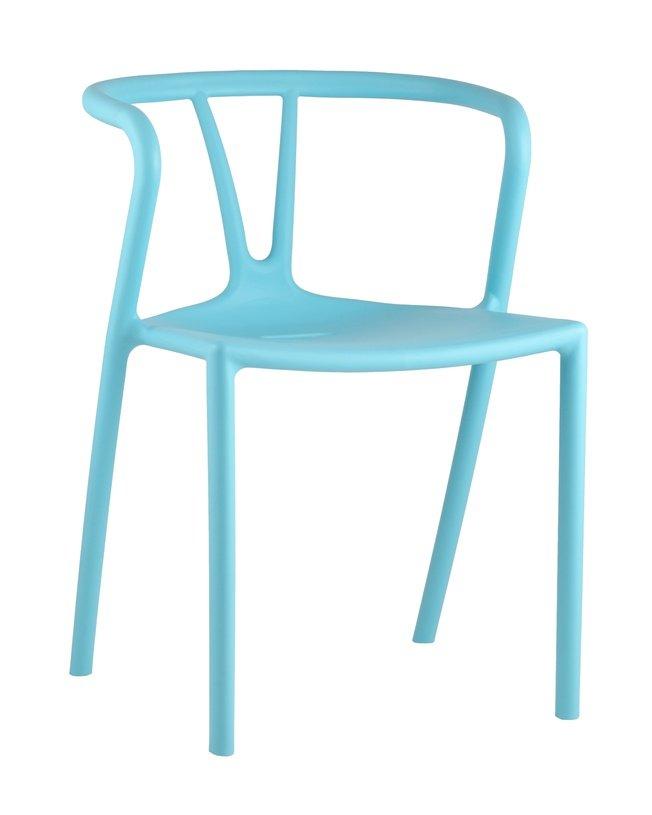 Стул пластиковый SUMMER, голубой фото