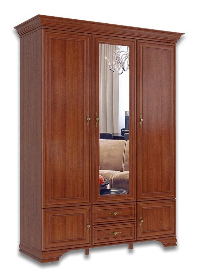 Шкаф 3-дверный Кентаки SZF5D2S, каштан фото