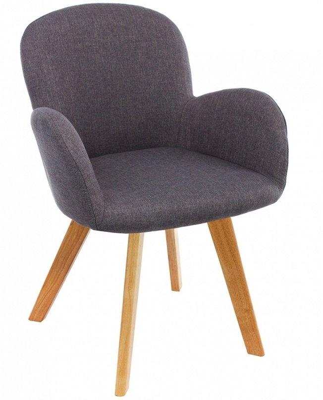 Стул Asia, wooden legs/grey fabric фото