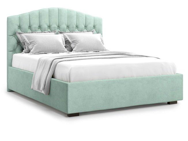 Кровать 1800 Lugano без подъемного механизма, ментоловый велюр velutto 14 фото