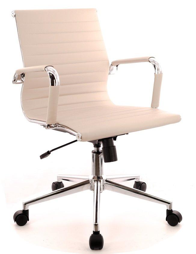 Кресло офисное Leo T, экокожа бежевая фото