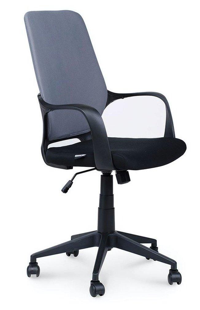 Кресло офисное Стиль, черный пластик/серая спинка/черное сидение фото