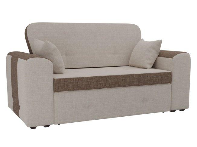 Диван-кровать Форте, бежевый/коричневый/рогожка фото