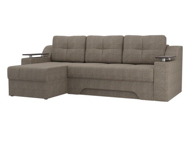 Угловой диван-кровать левый Сенатор, корфу 03/рогожка фото