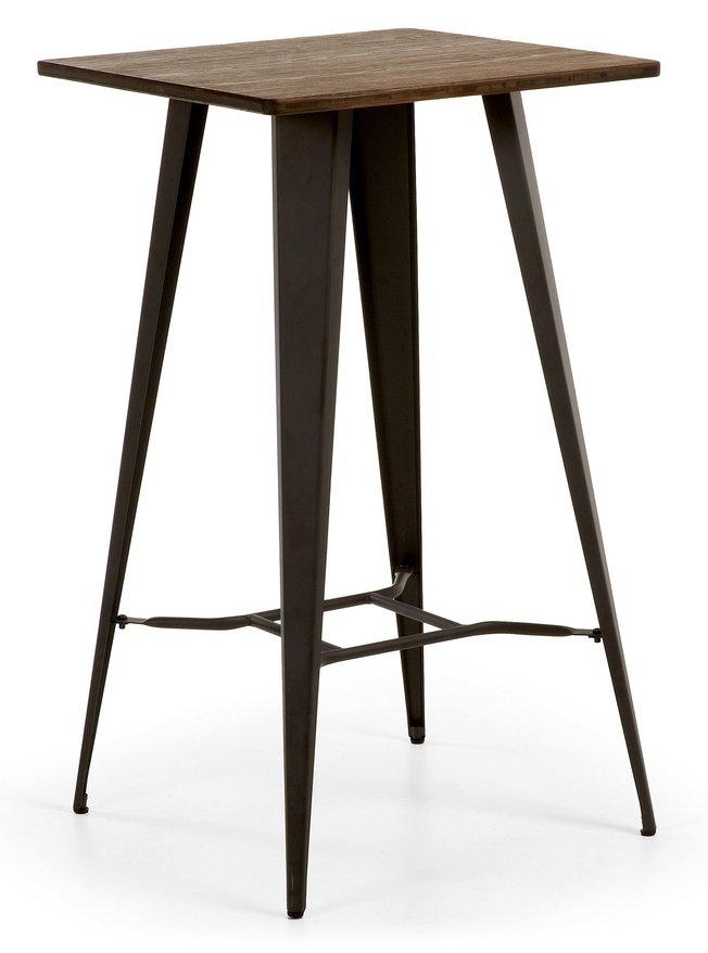 Стол Malibu высокий, черные ножки фото