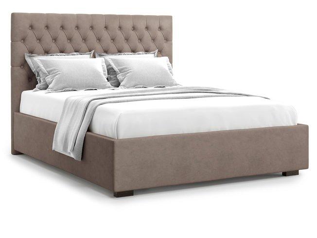 Кровать 1400 Nemi без подъемного механизма, коричневый велюр velutto 22 фото