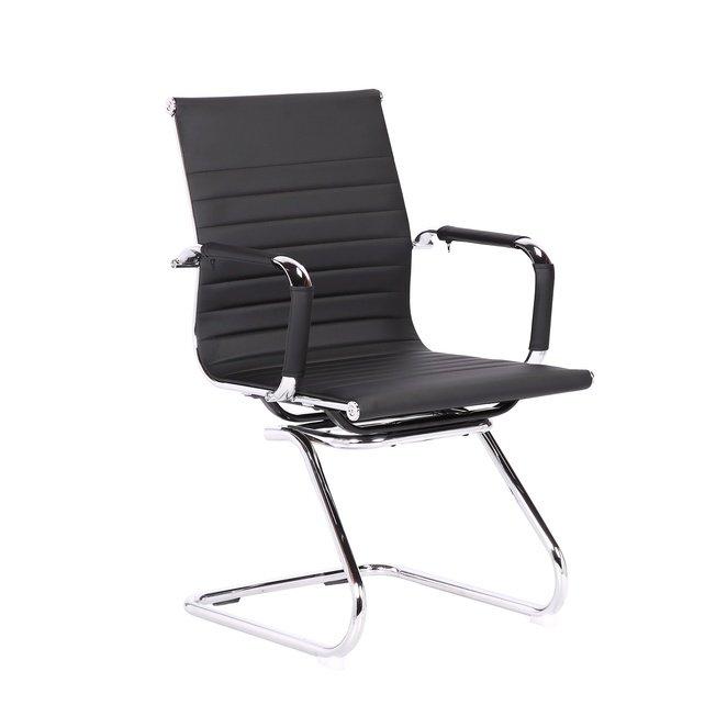 Кресло для посетителей TopChairs Visit, черное фото